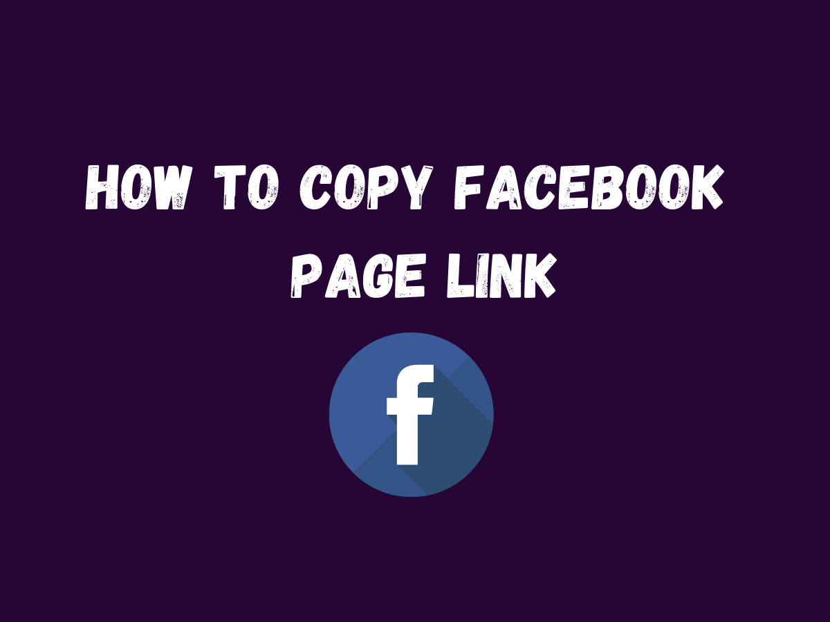 How To Copy Facebook Page Link